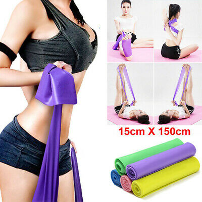 1.5M Elastic Resistance Bands Yoga Exercise Gym Pilates Stretch Straps Physio UK
