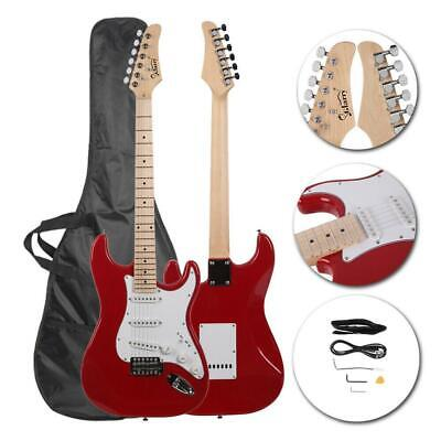 New 22 Frets Red Right-Handed Basswood Electric Guitar Set for Beginner