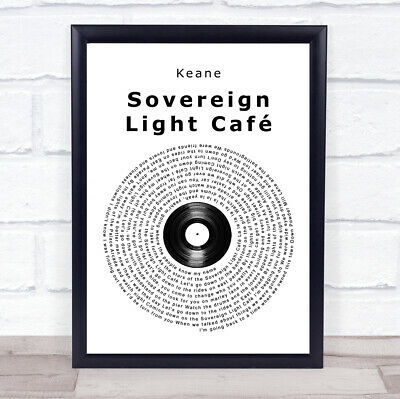 Sovereign Light Café Vinyl Record Song Lyric Quote Music Print