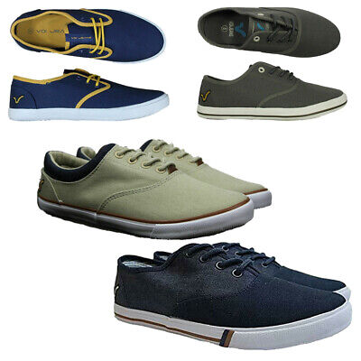 VOI JEANS MENS Canvas Trainers Low Top
