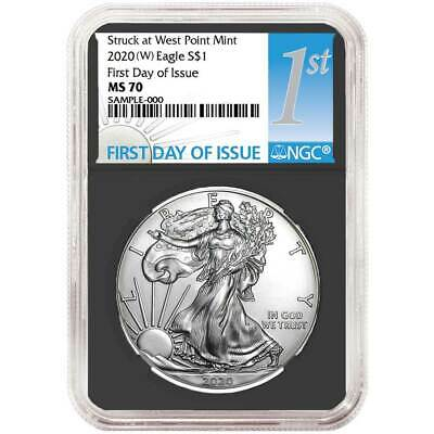 2020 (W) $1 American Silver Eagle NGC MS70 FDI First Label Retro Core