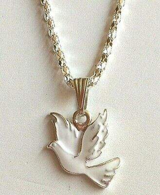 5x Silver Plated Dove/&Peace Symbol Pearl Cage Locket Pendant For DIY Neckace