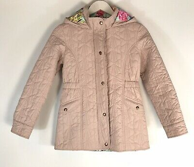 Ted Baker Girls Pink Padded Hooded Jacket Coat Age 12  Yrs