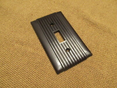 Vintage Bryant,P & S Uniline Ribbed Brown Bakelite (?) Switch Plates