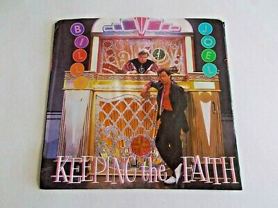 Billy Joel Keeping The Faith / She's Right On Time 45 Picture Vinyl Record