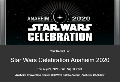 Star Wars Celebration 2020 - Anaheim - Friday - Adult Badge/Ticket - SOLD OUT