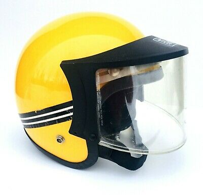 Norcon Helmet Snowmobile Motorcycle Super Seer 3/4 Faceshield Yellow Vintage