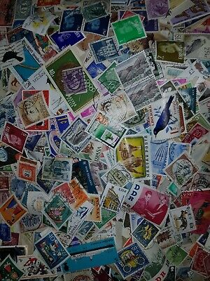 Mixed World Stamps. lots of 1,000+ Off Paper Stamps Kiloware 75-80g 1000