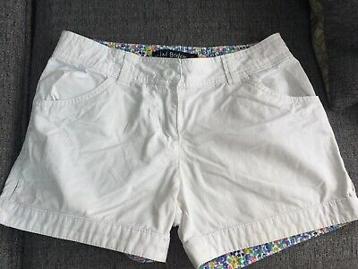 Mini Boden White Shorts age 12 adjustable waist Excellent condition floral inner