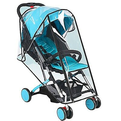 EVA Clear Universal Baby Stroller Rain Cover Weather Shield for Stroller Jogging