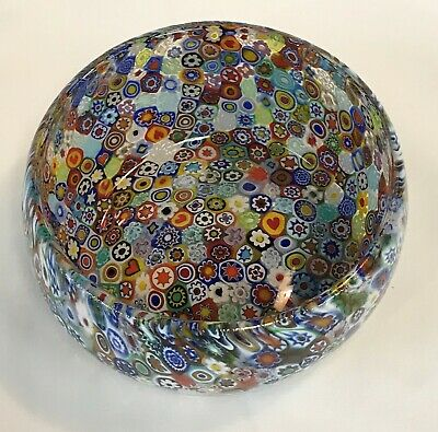 "Murano Millefiori Art Glass 4.5"" Bowl / Candy Dish - Italy"