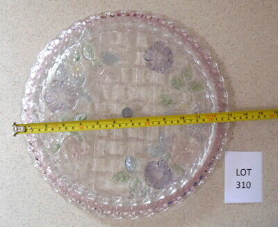 Vintage SOGA round glass cake plate - lot 310  - you will love it - BARGAIN-rare