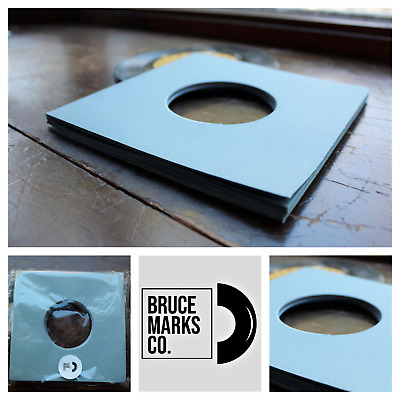 "40 SHEETS - GREY PREMIUM PAPER RECORD SLEEVES FOR EPs 7"" VINYL RECORDS (45RPMs)"
