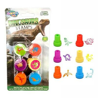 24 x Dinosaur Stamps Set Stamp Fun Self-ink Stationery Kids Gift Party Toy Craft