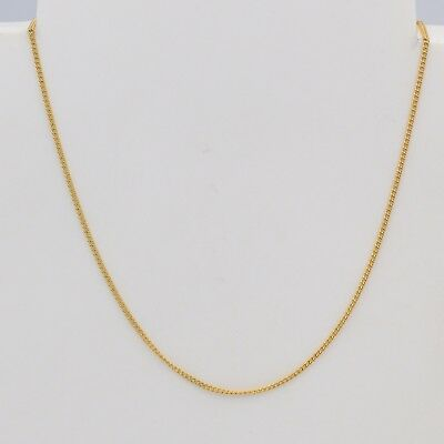 1mm High quality 18K Yellow Gold Filled Thin Curb Link Chain Necklace 18 inches