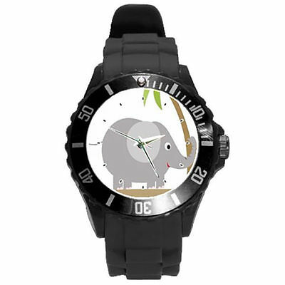 White Black Yellow Grey Purple Lime Green Pink Tree Elephant Color Watch