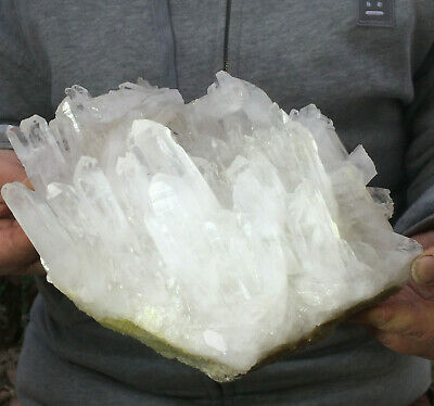 5.0lb Natural White Quartz Crystal Cluster Point Healing Mineral Specimen