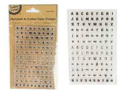 114pcs Clear Alphabet Letters Numbers Clear Stamp Set Arts Craft