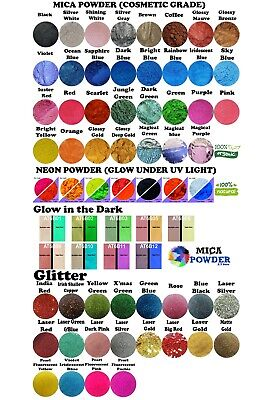 Mica- Glow in the dark-Neon-Magical-Pigment🌈Epoxy Resin-River table-Craft-DIY