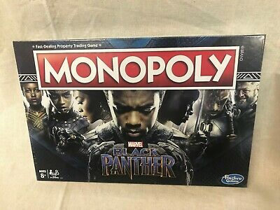 Black Panther edition Monopoly board game NEW NIB