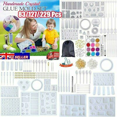 Handmade Crystal Glue Mould Mold Set Resin Jewelry Silicone Mold Kit AU STOCK