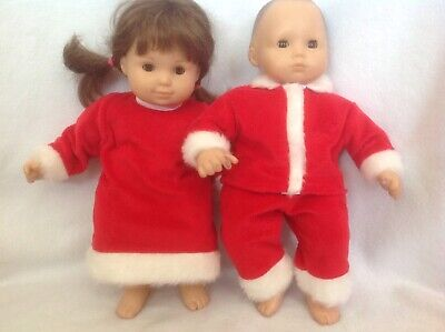 Debs 8pc CHRISTMAS Santa Claus SUIT DRESS BOOTS Doll Clothes 4 Bitty Baby Twins