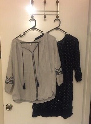 Khoko embroidered blouse size 12 & B collection tunic size 12