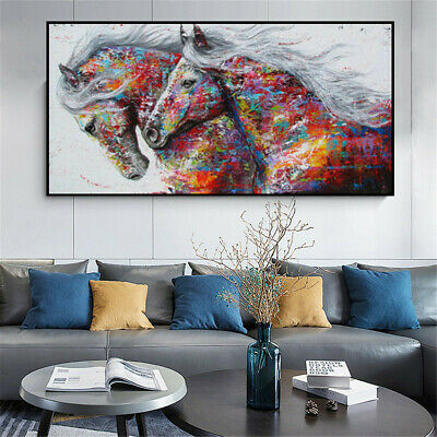 Horse Abstract Oil Painting Canvas Poster Wall Hangings Home Decor Art Print
