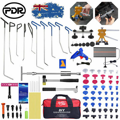 PDR Tools Paintless Puller Push Rods Puller Lifter Car Ding Dent Hail Repair Kit