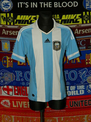 4/5 Argentina adults M 2011 home football shirt jersey trikot soccer