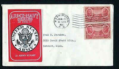 786 * ARMY - NAVY SERIES OF 1936-37 * 2c ARMY STAMP * A. JACKSON & SCOTT >