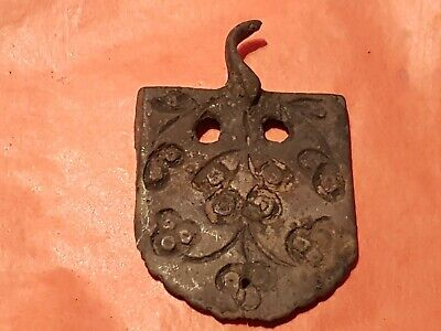 Superb very rare Post Medieval heraldic mount. Please read description. L157r
