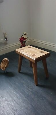 Hardwood Milking Stool / Rustic