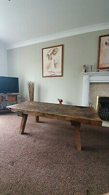 Large rustic Antique Pig Bench /Coffee Table/19th century European butcher block
