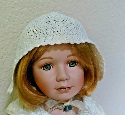 Vintage Hand Made Hand Crochet Infant Baby Doll Hat Off-White Adorable Hat