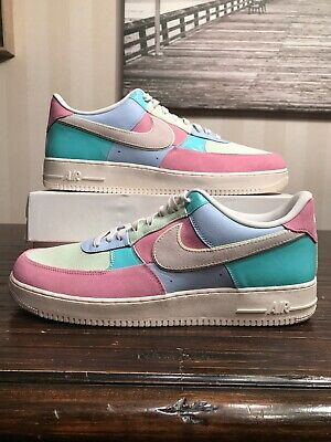 2018 NIKE AIR Force 1 Low Easter Ice Blue Sail Pink Teal