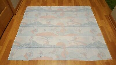 Awesome RARE Vintage Mid Century retro 70s 60s Peter Max style pastel fabric!!