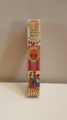 Awesome RARE Vintage Mid Century retro 60s psychedelic box 11 inch matches NOS!