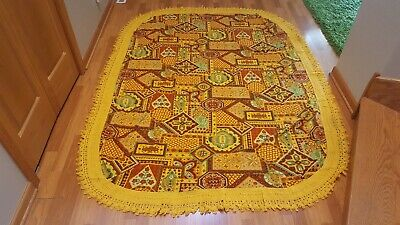 Awesome RARE Vintage Mid Century retro 70s 60s furniture cover fleece fabric!