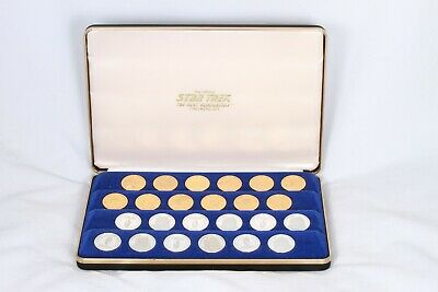 Franklin Mint Star Trek Gold and Silver Checkers Set 1992 RARE