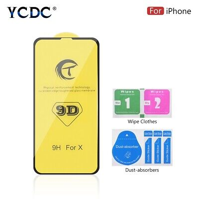 Ultra Clear Screen Protector Tempered Glass For iPhone 6 6S 7 8 X XS XS Max XR