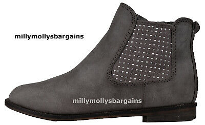 New Girls Grey NEXT Boots Size 12 Kids RRP £25 DEFECTS