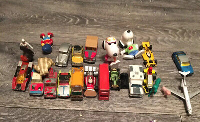 Joblot Vintage Die cast Cars And Toys -Mixed Lot Matchbox Majorette Snoopy