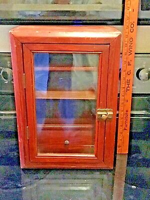 Unique Antique/Vintage Wooden Handmade Country Store Counter Top Display Case