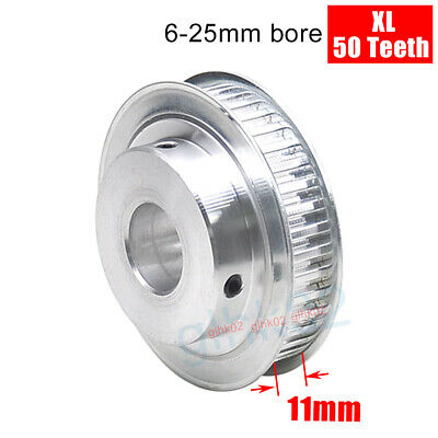 T5 Timing Pulley 10mm wide tapped with grubscrews 45 teeth with 6.35mm bore GB