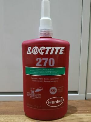 LOCTITE 270 Threadlocking Adhesive - high strength. Permanent locking 250ml