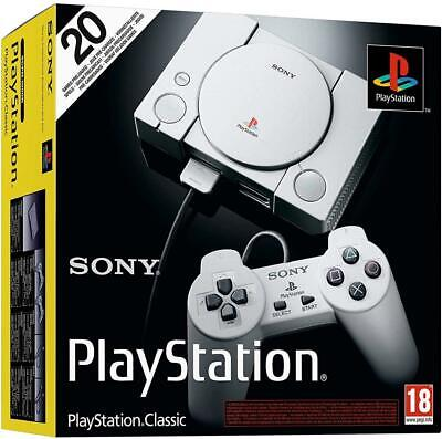 OFFICIAL Sony PlayStation PS Classic Console Free 20 Games, Brand New & Sealed