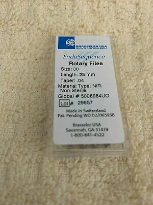 NEW 1 Pack of Brasseler Rotary Files Size 30 .04 25mm