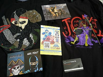 Loot crate Pirates vs ninjas M & Joker Ha Ha M + looter member card + Codes box
