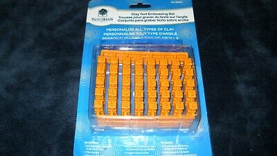Clay text embossing set Walnut Hollow #38464